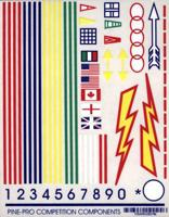 Pine-Pro Primaries Decal -- Pinewood Derby Decal and Finishing -- #10024