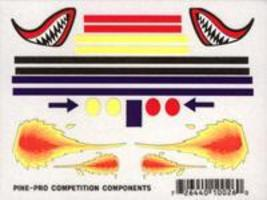 Pine-Pro Flames & Fang Mini Decal Pinewood Derby Decal and Finishing #10026
