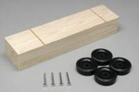 Pine-Pro Block Kit with Wheels & Axles Pinewood Derby Car #10046