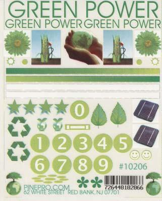 Pine-Pro Green Power Decal
