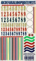 Pine-Pro Numbers/Stripes Decal 5''x8'' Pinewood Derby Decal and Finishing #10211