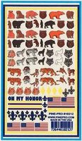 Pine-Pro Animals Decals 5x8 Pinewood Derby Decal and Finishing #10212