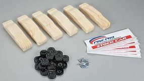 Pine-Pro Stock Car Bulk Pack 6 Vehicles/Axles/Wheels Pinewood Derby Car #10214