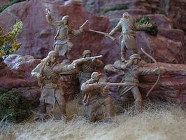 Paragon 1/32 Apache Indians Figure Set #1 (12) (Boxed) (Re-Issue)
