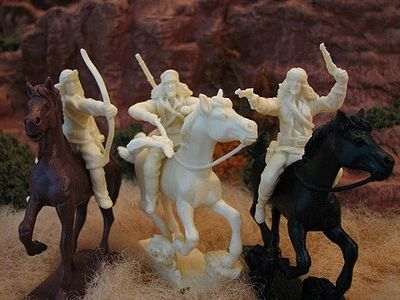 Paragon 1/32 Apache Indians Figure Set #3 Mounted (6) (Bagged)