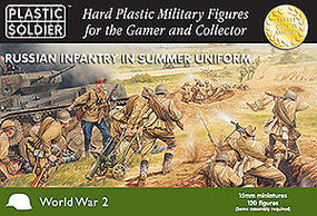 Plastic-Soldier WWII Russian Infantry Summer Uniform (130) Plastic Model Military Figure 15mm #1501