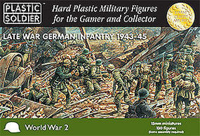 Plastic-Soldier Late WWII German Infantry 1943-45 (130) Plastic Model Military Figure 15mm #1503