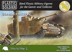 Plastic-Soldier WWII German Panzer IV Tank (5) Plastic Model Tank Kit 15mm #1504