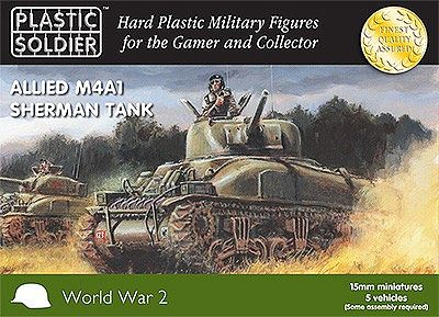 Plastic Soldier Allied M4A2 Sherman tank 15mm