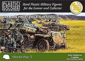 Plastic-Soldier WWII German SdKfz 251/C Halftrack (5) & Crew (35) Plastic Model Halftrack Kit 15mm #1508