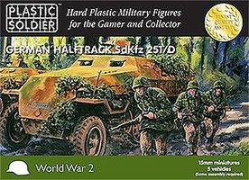 Plastic-Soldier WWII German SdKfz 251/D Halftrack (5) & Crew (35) Plastic Model Halftrack Kit 15mm #1509