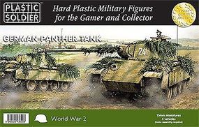 Plastic-Soldier WWII German Panther Tank (5) Plastic Model Tank Kit 15mm #1512