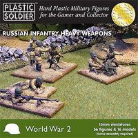 Plastic-Soldier WWII Russian Infantry (56) w/Heavy Weapons Plastic Model Military Figure 15mm #1514