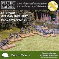 Plastic-Soldier Late WWII German Infantry (60) w/Heavy Weapons Plastic Model Military Figure 15mm #1515