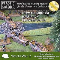Plastic-Soldier WWII German SdKfz 251 Halftrack Conversion Sets Plastic Model Halftrack Kit 15mm #1517