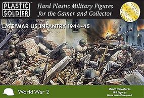 Plastic-Soldier Late WWII US Infantry 1944-45 (145) Plastic Model Military Figure 15mm #1522