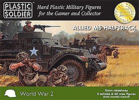 Plastic-Soldier WWII Allied M3 Halftrack & British Commonwealth Crew Plastic Model Halftrack Kit 15mm #1524