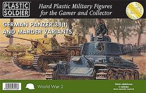 Plastic-Soldier WWII German Panzer 38(t) and Marder Variants Plastic Model Military Kit 15mm #1535