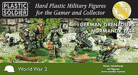 Plastic-Soldier German Grenadiers in Normandy 1944 (141) Plastic Model Military Figure 15mm #1538