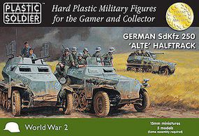 Plastic-Soldier WWII Herman SdKfz 250 Alte Halftrack Plastic Model Military Kit 15mm #1539