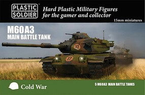 Plastic-Soldier 15mm Cold War M60A3 Main Battle Tank (5) Plastic Model Military Vehicle Kit #1555