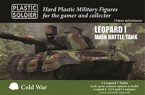 Plastic-Soldier 15mm Cold War Leopard 1 Main Battle Tank (5) (New Tool)