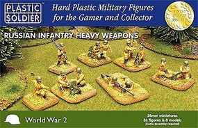Plastic-Soldier WWII Russian Infantry (26) w/Heavy Weapons Plastic Model Military Figure 28mm #2802