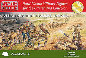 Plastic-Soldier WWII Russian Infantry Summer Uniform (57) Plastic Model Military Figure 1/72 Scale #7201