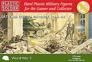 Plastic-Soldier Late WWII British Infantry 1944-45 (66) Plastic Model Military Figure 1/72 Scale #7203