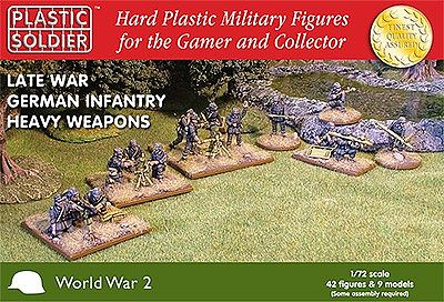 Plastic-Soldier Late WWII German Infantry (42) with Heavy Weapons Plastic Model Military Figure 1/72 #7210