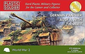 Plastic-Soldier WWII Panther Ausf A Tank w/Zimmerit (2) Plastic Model Tank Kit 1/72 Scale #7219