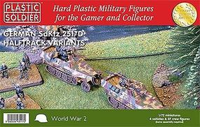 Plastic-Soldier WWII German SdKfz 251/D Halftrack (4) & 37 Crew Plastic Model Halftrack Kit 1/72 #7224