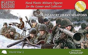 Plastic-Soldier WWII US Infantry (57) with Heavy Weapons Plastic Model Military Figure 1/72 Scale #7227