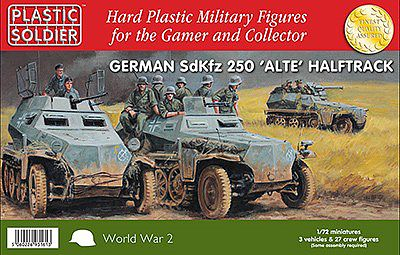 Plastic Soldier WWII German SdKfz 250 Alte Halftrack -- Plastic Model Military Kit -- 1/72 Scale -- #7231