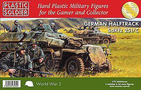 Plastic-Soldier WWII German SdKfz 251/C Halftrack & Crew Plastic Model Military Vehicle Kit 1/72 #7232