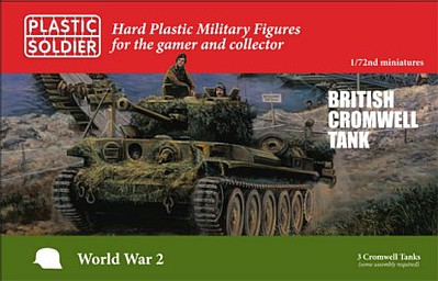 Plastic-Soldier WWII British Cromwell Tank (3) & (3) Crew Plastic Model Military Vehicle Kit 1/72 #7240