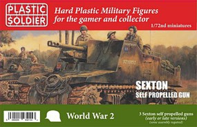 Plastic-Soldier WWII Sexton Self Propelled Gun (3) & Crew Plastic Model Military Vehicle Kit 1/72 #7244