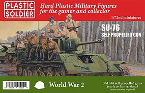Plastic-Soldier 1/72 WWII Russian Su76 Self-Propelled Gun (3) & Crew