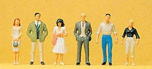 Preiser Pedestrians Passers By (6) HO-Scale Model Railroad Figures #10022