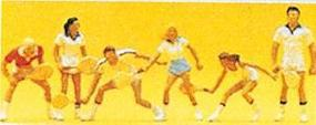 Preiser Recreation & Sports Tennis Players (6) Model Railroad Figures HO Scale #10078