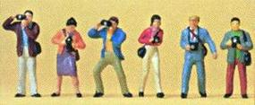 Preiser Photographers (6) Model Railroad Figures HO Scale #10089