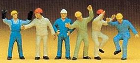 Preiser People Working Steeplejacks (6) Model Railroad Figures HO Scale #10105