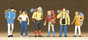 Preiser Recreation & Sports Hikers (6) Model Railroad Figures HO Scale #10113