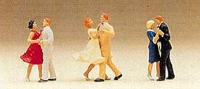 Preiser Couples Dancing 3 Couples Model Railroad Figures HO Scale #10120