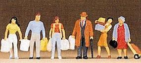 Preiser Pedestrians People Shopping (6) Model Railroad Figures HO Scale #10121