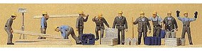 Preiser People Working Construction Workers (10) Model Railroad Figures HO Scale #10220