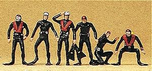 Preiser Recreation & Sports Scuba Divers (6) Model Railroad Figures HO Scale #10249