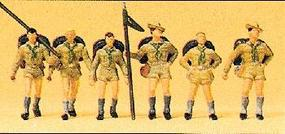Preiser Recreation & Sports Boy Scouts (6) Model Railroad Figures HO Scale #10260