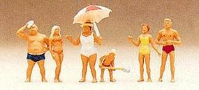 Preiser Recreation & Sports Family At The Beach (6) Model Railroad Figures HO Scale #10283