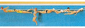 Preiser Recreation & Sports Swimming People (6) Model Railroad Figures HO Scale #10306